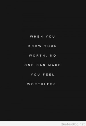 Feeling worthless quote