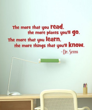 wall quote reading nook dr seuss: Seuss Quote, Books, Reading Area ...