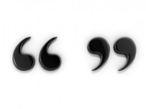 Quotation marks, also called inverted commas or (informally) quotes ...