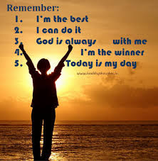 Am The Best, I Can Do It, God Is Always With Me, I'm The Winner ...
