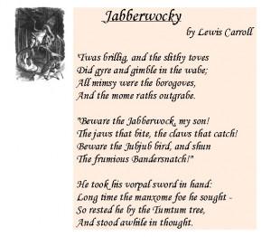 the Jabberwock, original drawing by Sir John Tenniel