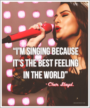 singing because it's the best feeling in the world.
