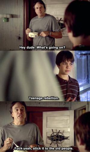 Teenage rebellion…