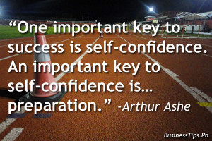 Confidence and preparation