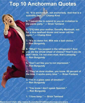 Anchorman is awesome..