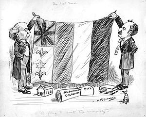 Political cartoon on Canada's multicultural identity, from 1911.