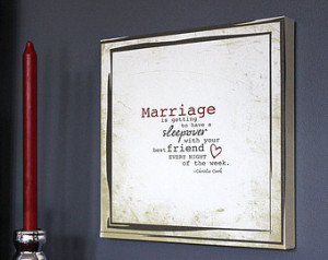 Canvas MARRIAGE quote WALL HANGING Sign // Bedroom Decor // ...