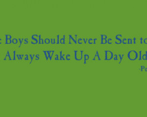 Little Boys Should Never Be Sent to Bed. They always wake up a day ...
