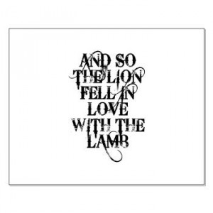 LION AND LAMB Twilight Quote Small Poster | Gifts For A Geek | Geek T ...