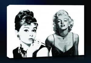 Icons Audrey Hepburn Marilyn Monroe Canvas Art | Buy Icons Audry ...