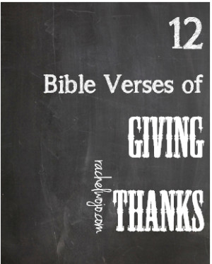 Give Thanks Bible Verses Bible verses for giving thanks