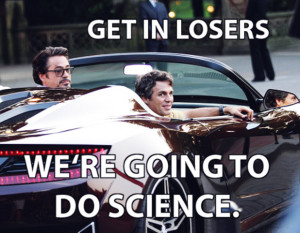 ... hulk get in losers we're going to do science meme quote avengers