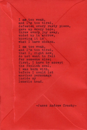 Typewriter Poetry #299 by James Andrew Crosby
