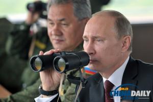 俄在日本近海举行军演普京坐镇