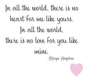 Maya Angelou Romantic Quote about Women in Red-heart shaped Image