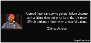 proud heart can survive general failure because such a failure does ...