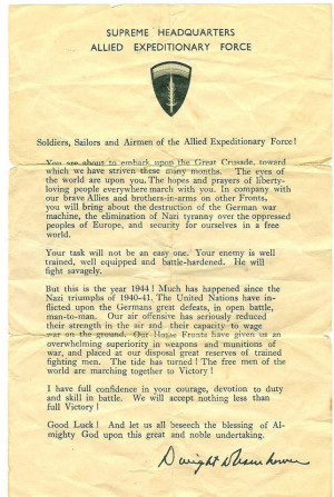 Remembering D-Day: Facts, Quotes and Eisenhower's letter to the ...