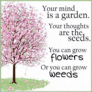 Your Mind Is a Garden.Your Thoughts Are The Seeds.You Can Grow Flowers ...