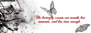 Butterfly Quote Cover for Facebook Profile