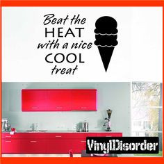 Beat the Heat with a nice cool treat Summer Holiday Vinyl Wall Decal ...