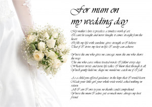 Poem From Mom To Daughter On Wedding Day 02