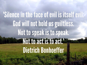 Not to speak is to speak, not to act is to act