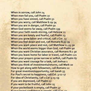 words to live by / Bible Verses