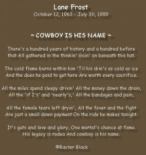 Lane Frost Quotes and Sayings http://www.myspace.com/shanealynnddd#!