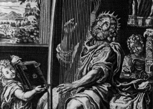 The original psalmster: King David on the harp. (Getty Images)