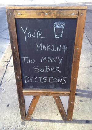 Funny Sidewalk Chalkboard signs outside of restaurants, bars and ...