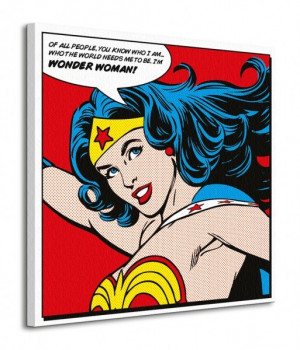 Wonder Woman Quote Obraz na p tnie WDC98056 galeria obrazek nr