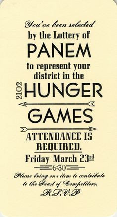 Happy Hunger Games: Ideas for Throwing A Hunger Games Party ...