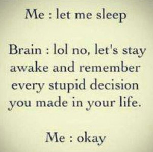 Sleep.. or lack there of..