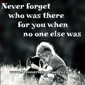 Never forget those who excluded you and were too busy to be bothered.