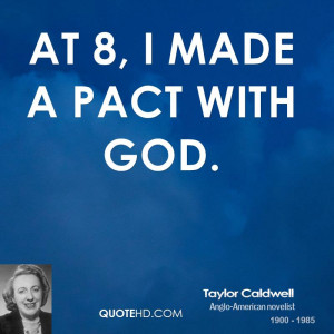 At 8, I made a pact with God.