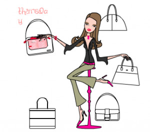 drawing of purse organizer, showing it moving from purse to purse on ...