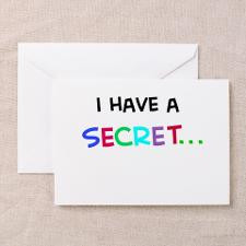 have a secret-big sister Greeting Cards (Package for
