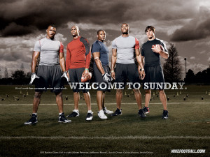 NFL Nike Football Motivational Welcome To Sunday 1024x768 DESKTOP