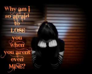 Afraid to lose u!! - love Photo