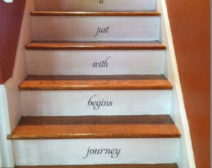 Every journey begins with STAIRS stairway Vinyl Decal Vinyl Decal Home ...