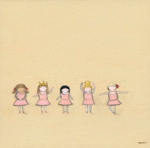 Tiny Dancers Canvas Reproduction