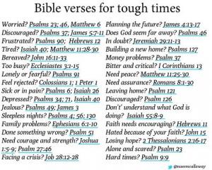 Bible Verses for Tough Times