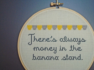 Cross stitch quote from Arrested Development. The fact that someone ...