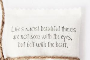 Handmade Lavender Sachet, Inspirational Quote, Sentimental Gift for ...