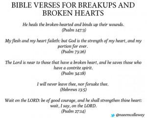 Bible verses for Broken Hearts