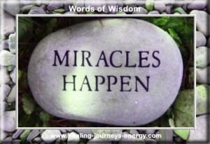 miracles happen...