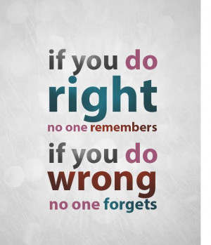 Doing Right / Doing Wrong