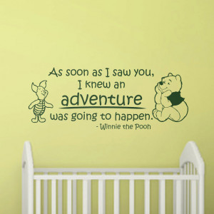 Nursery Wall Decal Quote: Winnie the Pooh Adventure Quote with Piglet ...