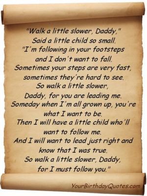 ... , Dad, Daddy, poem, Love, Son, quotes, wishes, quote, poem, walk