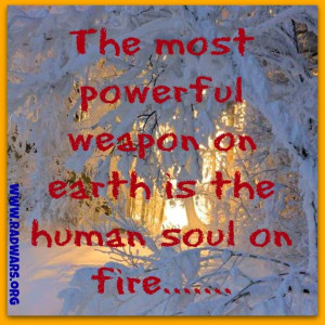 human soul on fire life quote wisdom